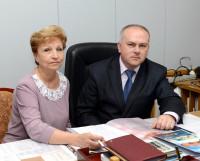 Елена Мазина и Алексей Кукушкин — профсоюзные лидеры «Звёздочки». Фото Владимира Ковпака