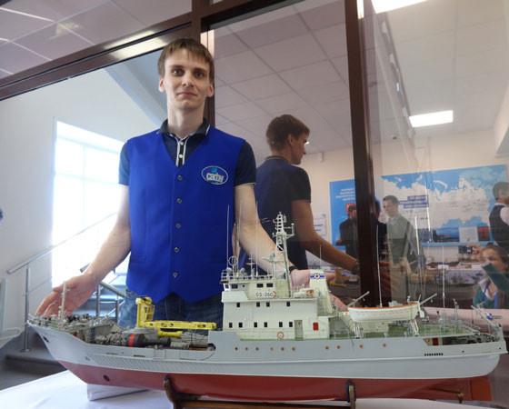 Модель гидрографического судна «ГС-260»: два года, и шедевр готов! Фото Екатерины Курзеневой