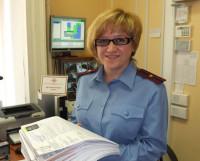 Ия Рыбина: «Эти заявления на оформление паспортов поступили за день!» Фото Владимира Бербенца