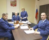 С. Северов (в центре) со своими заместителями: Е. Воропанова, А.  Большаков (слева), А. Филимонов  (справа). Фото Андрея Мирошникова