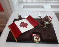 Гордость канадцев — флаг с кленовым листом. Фото из архива В.Г. Харлова