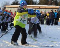 Лёгкой лыжни, малыш! Фото Елены Никитиной