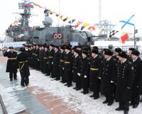 Репетиция  торжественного  построения  экипажа  к  Дню  защитника Отечества. Фото Андрея Мирошникова