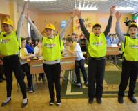 Победители творческого соревнования команда «Автостоп» из школы 13. Фото Елены Никитиной