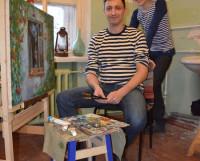 Эдуард Мамедов и директор творческого пространства МОСт Юлия Козелински: рисовать будут все! Фото автора
