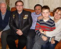 Виталий Смирнов в гостях у семьи адмирала П.Г. Котова. Фото из архива Виталия Смирнова