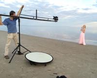 «Раз, два, мотор!» Пляж Белого моря так и просится на экран. Фото из архива Нинель Фокиной