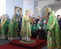 Патриарх Кирилл: «Земля сия, исполненная многих богатств, удивительная по красоте, несомненно, должна возродиться, как, верим мы, возродится и всё Отечество наше». Фото Екатерины Курзеневой