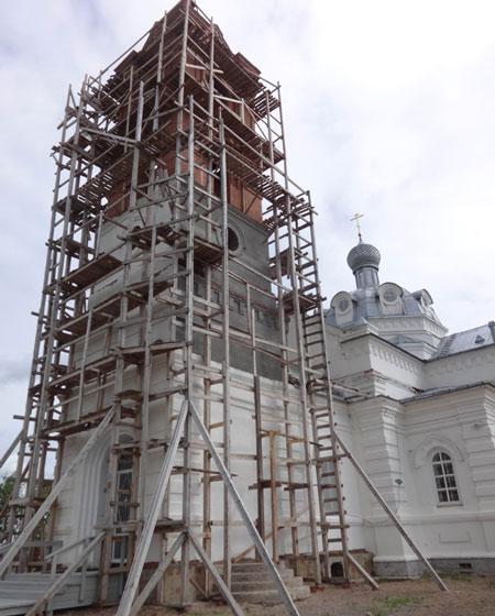 Восстанавливаемый Никольский храм. Фото Екатерины Курзеневой