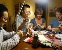 Мастер-класс по изготовлению куколок «Радостия» в гостеприимном доме Алёны Хан. Фото Ольги Голубцовой
