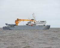 Морской транспорт вооружения «Академик Ковалёв» выходит в Белое море. Фото Владимира Ковпака
