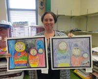 На уроках искусства второклассники, изучающие Европу, рисуют матрёшек. Правда, на американский лад. Фото автора