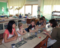 Мастер-класс по гжельской росписи. Фото автора