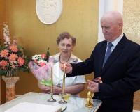 Чета Пушкиных отпраздновала свою изумрудную свадьбу.  Фото Валентина Капустина