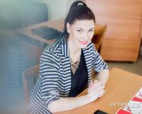 Ольга в Центральной библиотеке им. Н.В. Гоголя на награждении отличников Тотального диктанта. Фото из архива Ольги Заколупиной