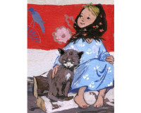 Дарёнка и Мурёнка. Иллюстрация Марины Успенской, 1952 год.