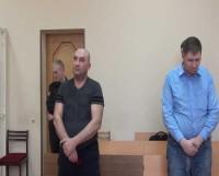 Слева направо: подсудимые Соломинов  и Семёнов на оглашении приговора. Фото пресс-службы ФСБ Северного флота
