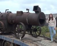 Локомобиль до установки у ДМ «Строитель». Фото из архива СМЦ
