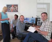 Группа, участвующая в разработке проекта. Фото Екатерины Курзенёвой
