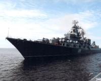 Ракетный крейсер «Маршал Устинов» на подходе к Северодвинску. Фото из архива автора