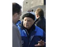 Генеральный конструктор Сергей Ковалёв после испытания АПЛ «Дмитрий Донской». Фото из архива редакции