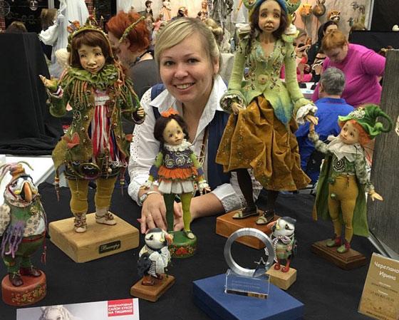 Ирина и её куклы завоевали кубок «Звезда салона» Международной выставки кукол.