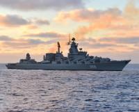 Ракетный крейсер «Маршал Устинов» в Белом море. Фото Марса Биктимирова