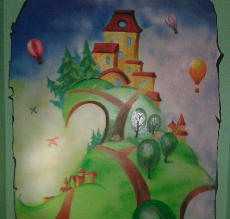 Стены разрисованы мечтами