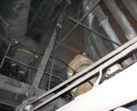 Фото с сайта службы спасения http://arh112.ru работа пожарных в ночь с 10 на 11 января на ТЭЦ-1.