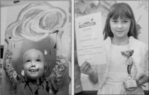 Даже больные дети способны мечтать. Такой была маленькая Валерия (слева), когда проходила лечение. В этом году она стала призёром Всемирных игр победителей.