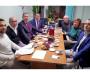 Слева направо: Георгий Губанов, Алексей Кувакин, Михаил Токмаков, Владимир Сухарев, Александр и Анастасия Микляевы, Николай Зеленовский.