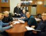 Совещание  начальников отделений  уголовного  розыска.  Слева направо: Э.Ф. Панютин, В.Е. Хатин,  А.М. Кузнецов, А.Н. Бачук, С.А. Харитонов, А.А. Ананьин.