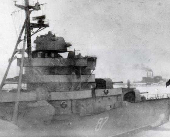 Эсминец «Разъярённый» в годы войны.