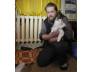 Роман Фалёв и тот самый кот, напугавший ночью хозяина.