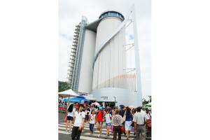 Из бывшего цементного элеватора корйцы соорудили музыкально-обзорную башню Sky-tower.