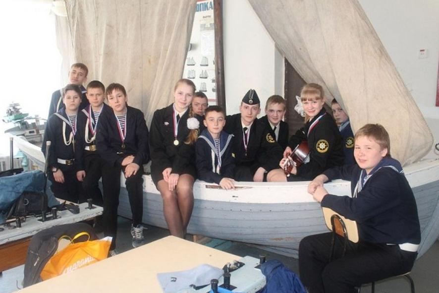 Юные моряки на Севмаше
