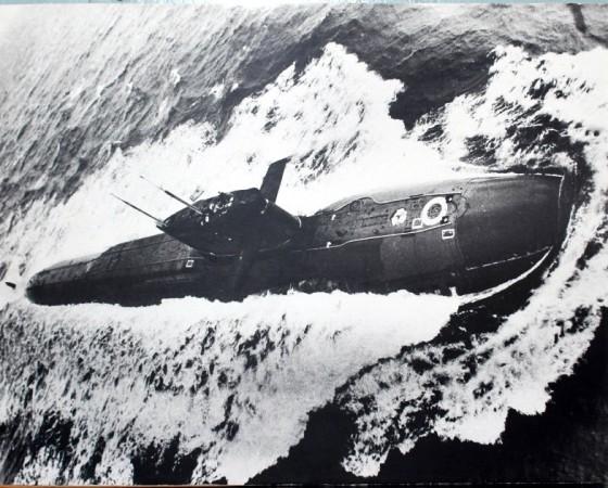 АПЛ «Ленинец» в Баренцевом море. На её борт поднималась столичная делегация во главе с Леонидом Брежневым.