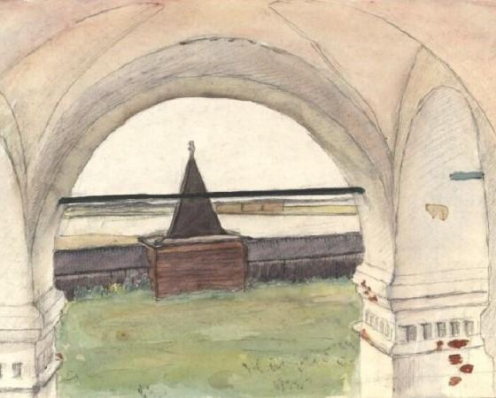 Рисунок Бориса Шергина будет представлен на выставке.