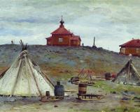 Рисунок Александра Борисова «Становище Малые Кармакулы».