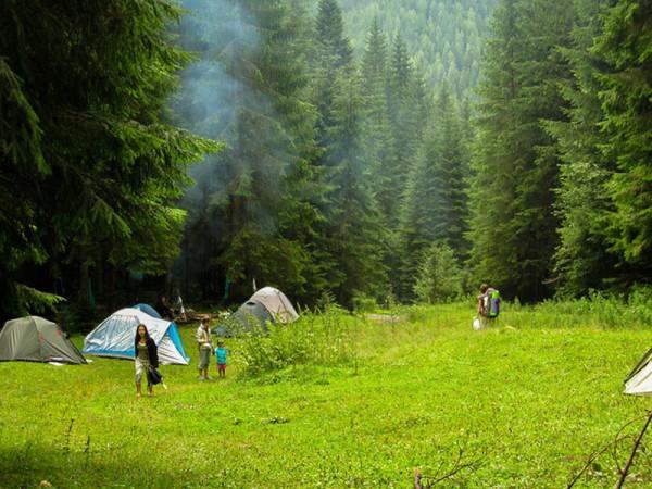 Привал в горах Карпатских.