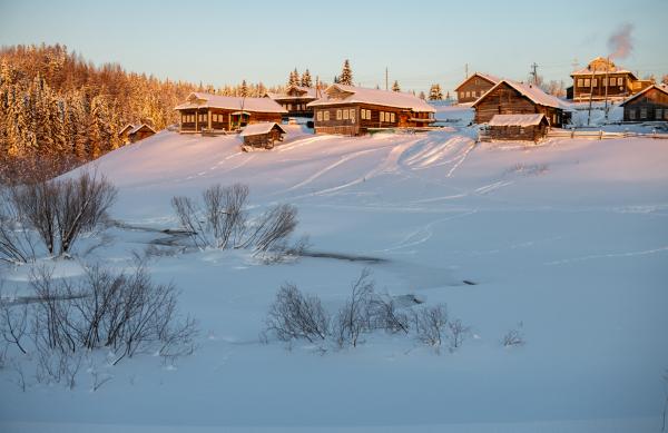 Деревня Петухово на рассвете.