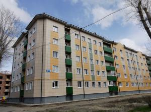 В Северодвинске продолжается строительство социальных домов для переселения.