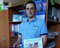 """Победитель акции """"Письмо памяти"""" Сергей Хабаров."""