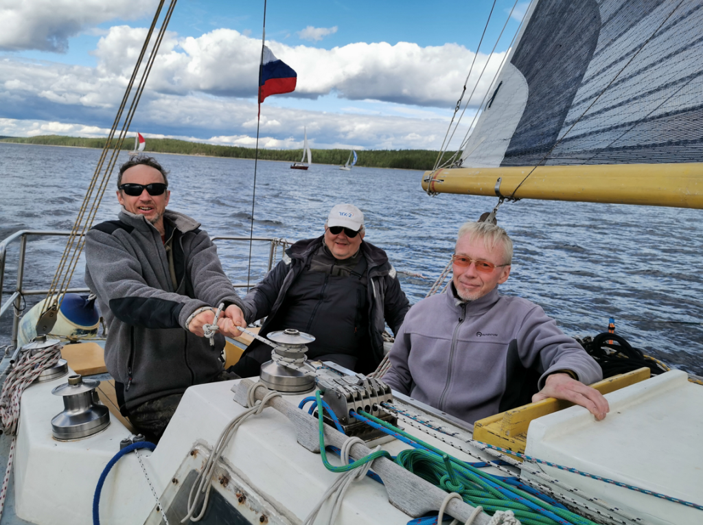Команда «Радуги»: Алексей Овчинников, Сергей Шило и Александр Кузьмин.