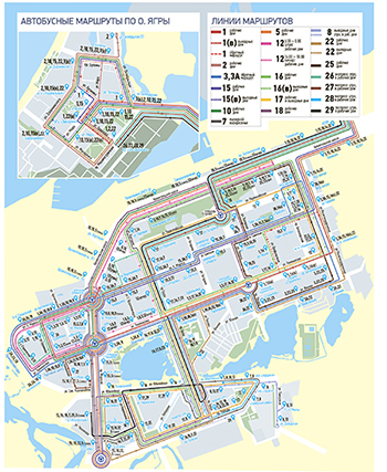 Схема движения общественного транспорта